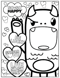 Coloring Pages Kawaii Crush With Spirit For