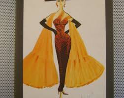 Vintage 1983 40 Years Of Italian Fashion Drawings And Sketches The Most Famous