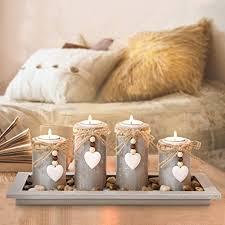 gomaihe kerzenständer teelichthalter 4 stück kerzenleuchter kerzenhalter tischdeko deko wohnzimmer schlafzimmer balkon badezimmer dekoration