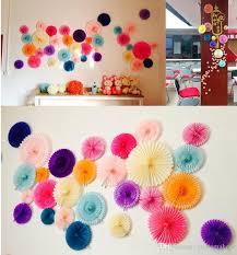 Decorative Wedding Paper Crafts Fan 20 30CM Flower Origami DIY Birthday Party Decorations Supplies Kids