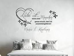 details zu wandaufkleber wandtattoo aufkleber schlafzimmer liebe ist menschen 2 namen 60