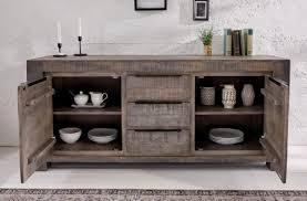 casa padrino landhausstil sideboard grau 175 x 50 x h 76 cm massivholz schrank mit 2 türen und 3 schubladen wohnzimmer möbel