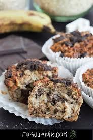 frühstücksmuffins ohne zucker v gf schoko banane
