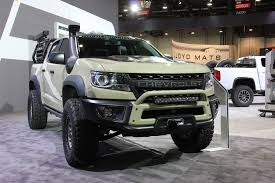 SEMA 2017: Colorado ZR2 AEV Concept Changes The Game 2017 Chevy Colorado Mount Pocono Pa Ray Price Chevys Best Offerings For 2018 Chevrolet Zr2 Is Your Midsize Offroad Truck Video 2016 Diesel Spotted At Work Truck Show Midsize Pickup Of Texas 2015 Testdriventv Trucks Riding Shotgun In Gms New Midsize Rock Crawler Autotraderca Reignites With Power Review Mid Size Adds Diesel Engine Cargazing 2011 Silverado Hd Vs Toyota Tacoma