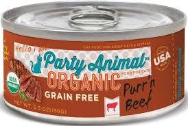 organic cat food animal purr n beef recipe organic grain free canned cat food