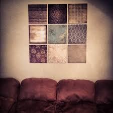 DIY Wall Decor Scrapbook Paper Canvas