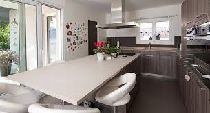 cuisine en u avec table ilot cuisine en l excellent modele cuisine ouverte avec ilot