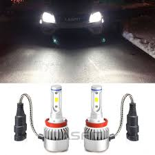 bright h11 h9 h8 led headlight fog light bulb conversion kit