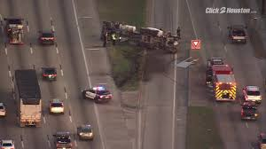100 Cement Truck Video Overturned Cement Truck Block North Freeway Exit Ramp