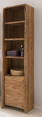 kawola badezimmer hochschrank loft edge akazie massiv holz