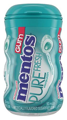 Mentos Pure Fresh Sugarfree Gum - Wintergreen, 50pcs