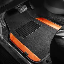 100 Ford Truck Mats BESTFH 4pc Universal Carpet Floor For Car SUV Orange W
