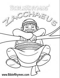 BibleRhymes Zacchaeus Coloring Book