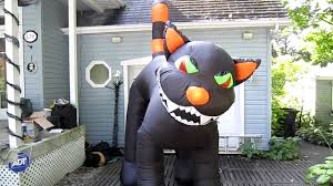 Walmart Halloween Blow Up Decorations by Inflatable 9 Feet Tall Halloween Cat Youtube