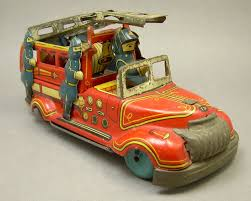 100 Sk Toy Trucks Vintage SK S Tin Litho Friction Fire Engine Truck Made In