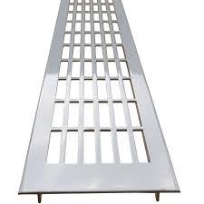 lüftungsgitter 500 mm x 70 mm für arbeitsplatten silber