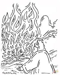 Click The Moses And Burning Bush Coloring Pages