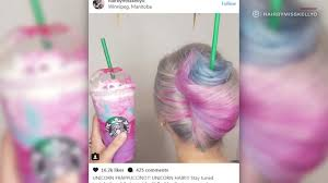 Starbucks Unicorn Drink Now A Hairstyle