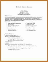 Resume For College Grad With No Experience Student Examples Cover Letter Template