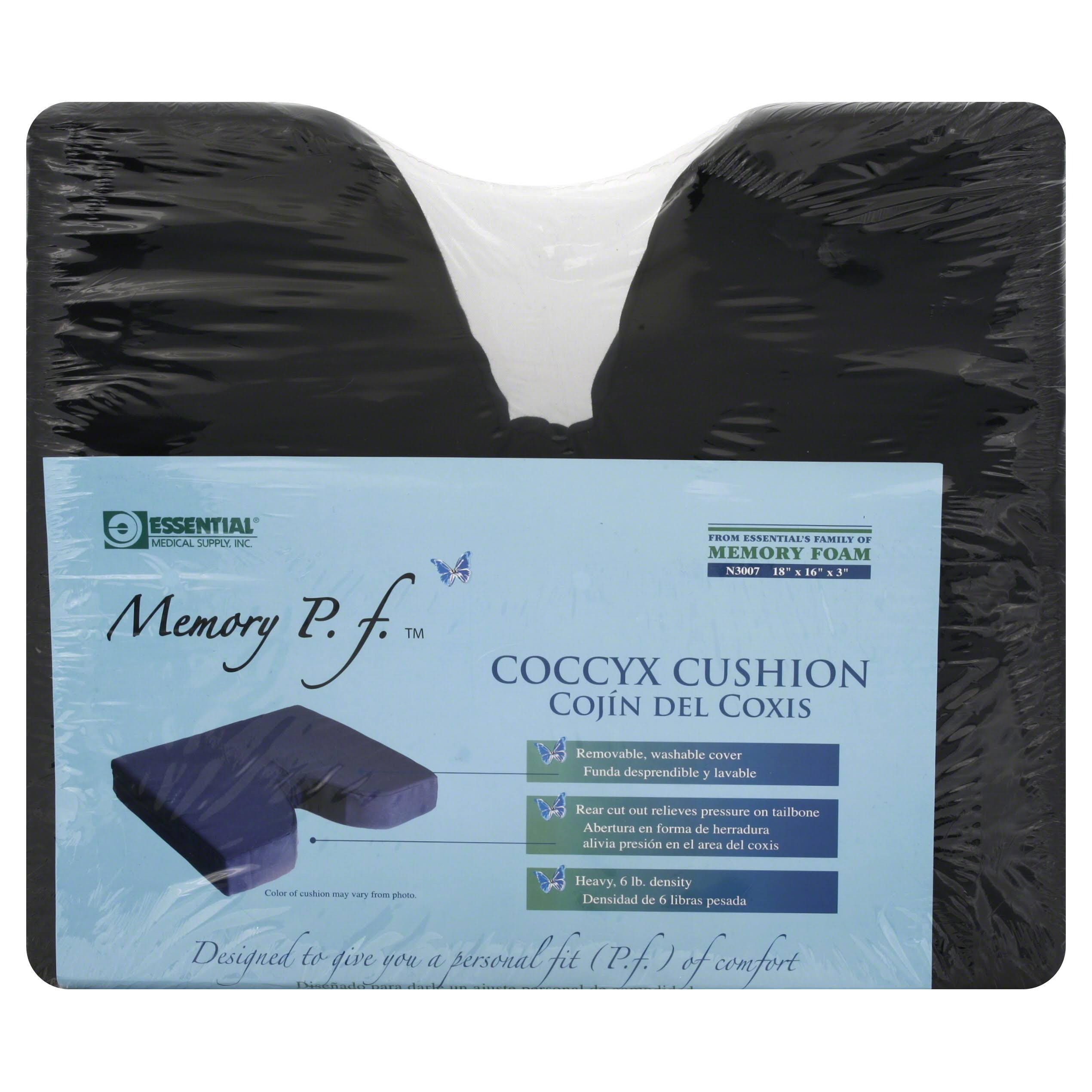 "Essential Medical Supply Memory P F Coccyx Cushion - 18"" X 16"" X 3"""
