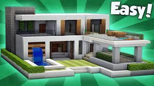 100 A Modern House Minecraft How To Build A Tutorial 8 2018 YouTube