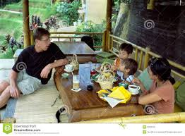 100 Bali Tea House Family Time In Indonesia Stock Photo Image Of