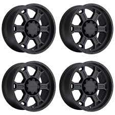 100 16 Truck Wheels Set 4 Vision 372 Raptor Matte Black X8 5x475 0mm