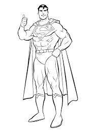 Free Superman Coloring Printables