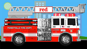 Colored Fire Video Refrence Firetruck Colors Learning Color Fire ...