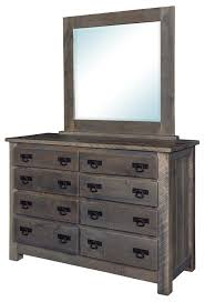 Reclaimed Pallet Wood Dresser With Optional Mirror