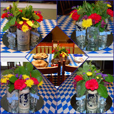 For An Oktoberfest Party, I Filled Four Vintage German Beer Steins ... Oktoberfest Welcome Party Oktoberfest Ultimate Party Guide Mountain Cravings Backyard Byoktoberfest Twitter Decor Printables Octoberfest Decorations This Housewarming Is An Absolutely Delight Masculine And German Supplies 10 Tips For Hosting Fvities Catering Free Printable Water Bottle Labels Sus El Jangueo Brokelyn