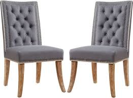 Gareth Gray Dining Chairs (Set Of 2)   Gray Dining Chairs ...