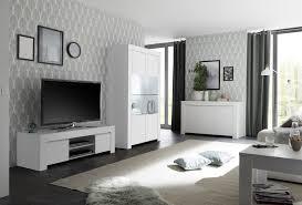 wohnzimmer set fren mit vitrine in weiss yatego