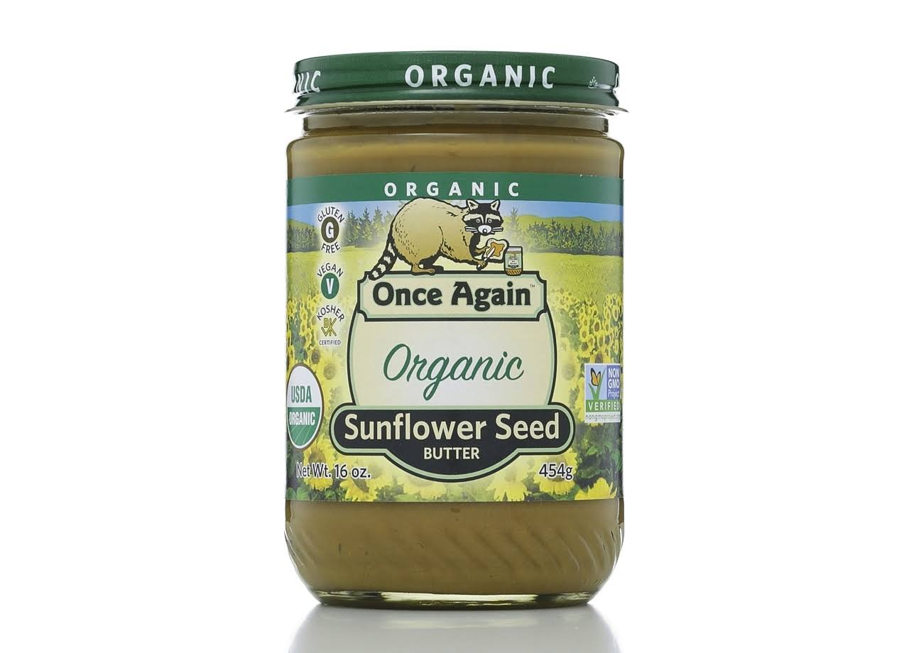 Once Again Sunflower Seed Butter, Lightly Sweetened, Organic - 16 oz