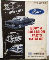 100 1965 Ford Truck Parts 1963 1964 1966 Body Collision Book TBird Mustang