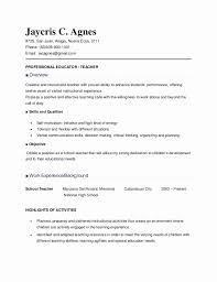 Resume Sample For Teacher Teachers C Elementary Philippines Pictures
