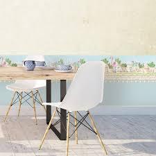 flamingo wallpaper grenze garten tapete esszimmer wandkunst hellblaue grenze selbstklebende tapete grenze abnehmbare wandaufkleber