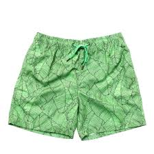 100 Coc Republic O Mens Leafy Board Shorts In Green