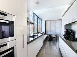 Narrow Galley Kitchen Ideas by Kitchen Style Double Wall Oven Galley Kitchen Design Modern