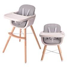 HAN-MM Baby High Chair With Removable Gray Tray, Wooden High Chair,  Adjustable Legs, Harness, Feeding Baby High Chairs For  Baby/Infants/Toddlers Style ...