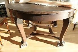 antiker runder tisch ausziehbar esszimmer um 1920 eur