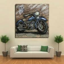 details zu amazing 3d motorcycle metal wall artwork harley davidson wall painting deal