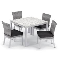Oxford Garden Travira 5-piece 39-inch Lite-Core Ash Dining Table & Argento  Resin Wicker Side Chair Set - Jet Black Cushions Solid Victoria Ash Ding Table With Angled Black Leg Design Extending First Albert Light Matt A Shaped Legs Designa 120187cm Melamine Grey Ding Room Ideas Chairs Daisy Modern Tables Sohoconcept Halsey 7piece Splay By Bernards At Wayside Fniture Lynd Dark Ash Liberty Home Dcor Online Lanesborough Hadley Rose Cannelle Gold Capped Barker Stonehouse