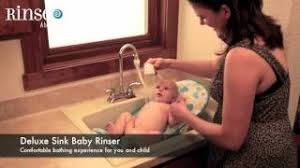 deluxe sink baby rinser bath system by rinse ace youtube