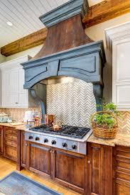 Stove Range Hoods Kitchen Hood Installation Black Finished Wooden Frame Of Wall Mounted Chimney Vent