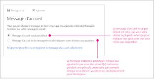 configurer votre messagerie vocale outlook