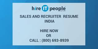 Sales And Recruiter Resume India