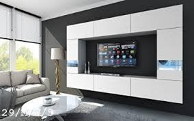 future 29 wohnwand anbauwand wand schrank tv schrank wohnzimmer wohnzimmerschrank möbel matt weiß schwarz led rgb beleuchtung 29 m w 5 led weiß