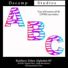 Rainbow Zebra Print Bedroom Decor by Rainbow Zebra Alphabet Letter Wall Decals For U0027s Bedroom