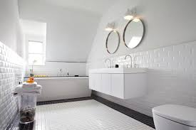 beveled subway tiles look marvelous in this remodeled bathroom ideas